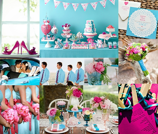 Aqua-and-Pink-Wedding